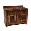 "Fireside Lodge Reclaimed Barnwood 48"" Bathroom Vanity Base"