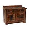 "<strong>Fireside Lodge</strong> Reclaimed Barnwood 60"" Bathroom Vanity Base"