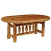 Traditional Cedar Log Oval Dining Table