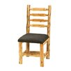 Traditional Cedar Log Upholstered Side Chair