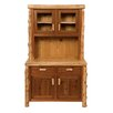 <strong>Fireside Lodge</strong> Traditional Cedar Log China Cabinet