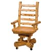 Traditional Cedar Log High-Back Wood Executive Chair