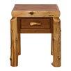 Traditional Cedar Log 1 Drawer Nightstand