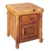 <strong>Traditional Cedar Log 1 Drawer Nightstand</strong> by Fireside Lodge