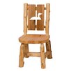 Traditional Cedar Log Cut Out Side Chair