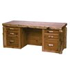 <strong>Fireside Lodge</strong> Traditional Cedar Log Executive Desk with 6 Drawers