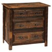 <strong>Fireside Lodge</strong> Reclaimed Barnwood 3 Drawer Chest