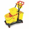 Rubbermaid Commercial Wavebrake 35-qt. Mopping Trolley Side Press