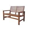 Shine Company Inc. Contemporary Wood Garden Bench