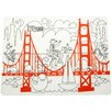 Modern-twist Fun on the Golden Gate Placemat
