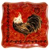 """Certified International Tuscan Rooster 12.5"""" Square Platter"""