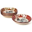 Certified International Lille Rooster by Geoffrey Allen Soup/Pasta Bowl (Set of 4)