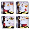 """Certified International Chef Special 10.25"""" 4 Piece Square Dinner Plate Set"""