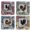 "Certified International Lille Rooster by Geoffrey Allen 13.5"" Dinner Plate (Set of 4)"