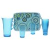 <strong>Certified International</strong> Capri Blue by Jennifer Brinley 8-Piece Serving Set
