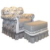 <strong>Angel Song</strong> Toile Black Adult Empire Glider Rocker and Ottoman