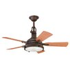 "Kichler 44"" Hatteras Bay 5 Blade Patio Ceiling Fan"