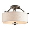 <strong>Kichler</strong> Leighton 3 Light Semi Flush Mount