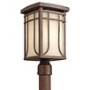 <strong>Riverbank 1 Light Post Lantern</strong> by Kichler