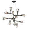 <strong>Troy Lighting</strong> Conduit 12 Light Chandelier