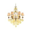 Venetian 6 Light Chandelier with Glass