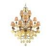 <strong>Venetian 16 Light Chandelier with Glass</strong> by Corbett Lighting