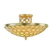 <strong>Bangle 3 Light Semi Flush Mount</strong> by Corbett Lighting