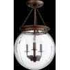 Quorum 3 Light Globe Pendant