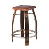 "24-32"" Stave Stool with Wood Top"