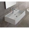 Scarabeo by Nameeks Teorema Ceramic Wall Mounted Vessel Bathroom Sink