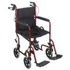"Briggs Healthcare 19"" Steel Transport Wheelchair with Handbrakes"