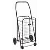 Briggs Healthcare Folding Shopping Cart in Black