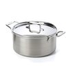 <strong>d5 Brushed Stainless Steel Stock Pot with Lid</strong> by All-Clad