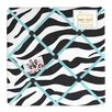 Turquoise Funky Zebra Memo Board