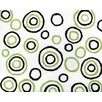 <strong>Lime and Black Spirodot Floor Rug</strong> by Sweet Jojo Designs