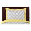 Zig Zag Yellow and Gray Collection Standard Pillow Sham