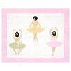 Sweet Jojo Designs Ballerina Floor White Area Rug