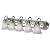 <strong>Golden Lighting</strong> Brookfield 5 Light Vanity Light