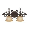 <strong>Golden Lighting</strong> Jefferson 2 Light Bath Vanity Light