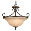 <strong>Golden Lighting</strong> Homestead Ridge 3 Light Convertible Inverted Pendant
