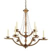 <strong>Golden Lighting</strong> Athena 9 Light Candle Chandelier