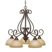 <strong>Golden Lighting</strong> Riverton 5 Light Nook Chandelier