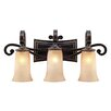 <strong>Golden Lighting</strong> Portland 3 Light Bath Vanity Light