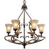 <strong>Golden Lighting</strong> Loretto 6 Light Chandelier