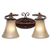<strong>Golden Lighting</strong> Loretto 2 Light Bath Vanity Light