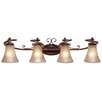 <strong>Golden Lighting</strong> Loretto 4 Light Bath Vanity Light