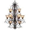 <strong>Golden Lighting</strong> Jefferson 12 Light Chandelier