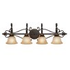 <strong>Golden Lighting</strong> Jefferson 4 Light Bath Vanity Light