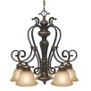 <strong>Jefferson 5 Light Nook Chandelier</strong> by Golden Lighting