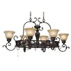 <strong>Golden Lighting</strong> Jefferson Chandelier Pot Rack with 8 Light